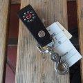 HTC FLOWER LEATHER  KEY HOLDER フラワーレザーキーホルダー