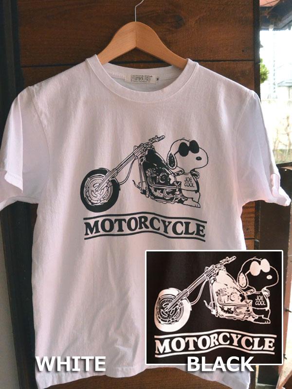 画像1: FULLNELSON×PEANUTS Tee フルネルソン×ピーナッツ スヌーピーTシャツ MOTOR CYCLE