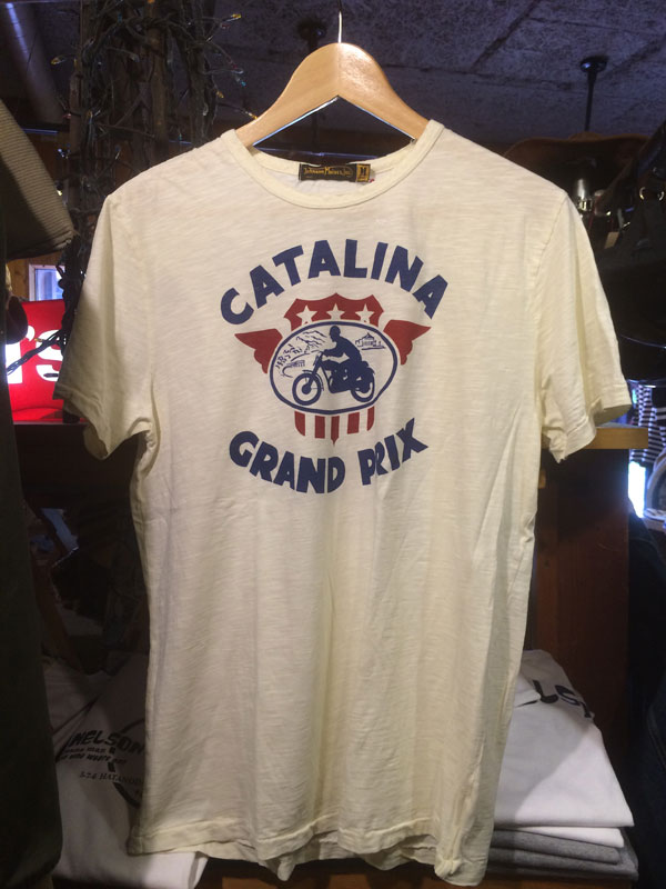 画像1: Johnson Motors'Inc CATALINA GP S/S tee ジョンソンモータース半袖Tシャツ DIRTY WHITE