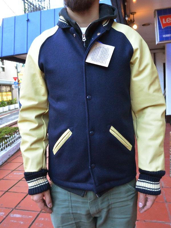 画像1: FULLNELSON別注 Skookum Faraocoat Navy×Cream スクーカム ファラオコートネイビー×クリーム