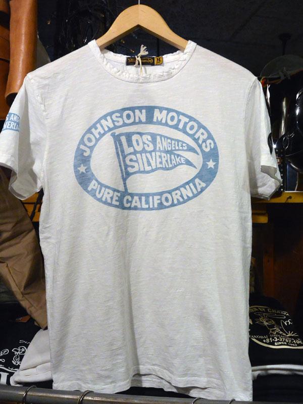 画像1:  Johnson Motors'Inc PURE KGS/S tee ジョンソンモータース半袖TシャツOPTIC WHITE/BL