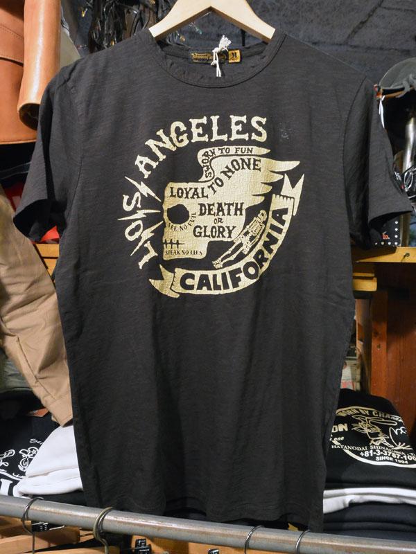 画像1:  Johnson Motors'Inc LOS CALIFORNIA S/S tee ジョンソンモータース半袖TシャツBLACK TAR