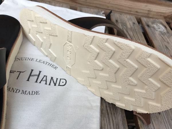 画像5: LEFT HAND TONG-TYPE LEATHER SANDAL レフトハンドレザーサンダルホーウィンクロムエクセル ブラック