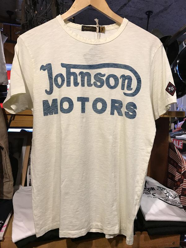画像1:  Johnson Motors'Inc CLASSIC38 S/S tee ジョンソンモータース半袖TシャツDIRTY WHITE