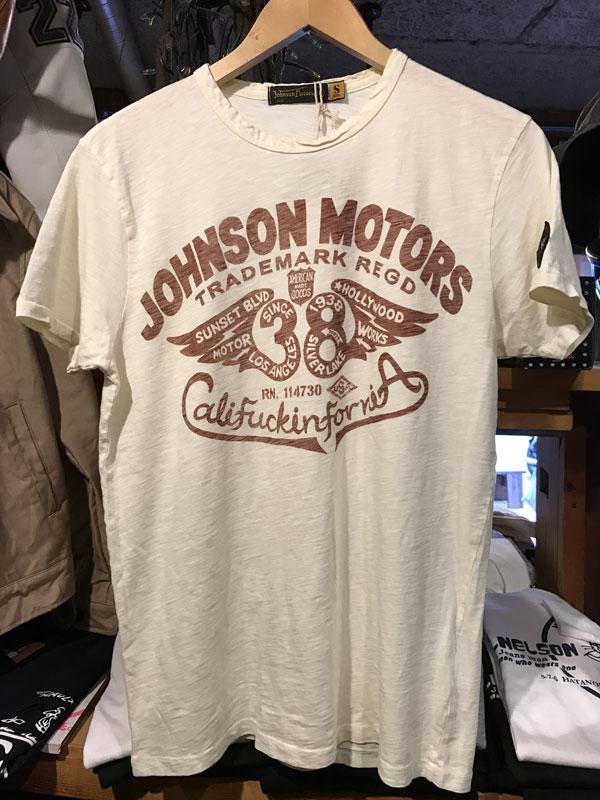 画像1:  Johnson Motors'Inc FLYING 38 S/S tee ジョンソンモータース半袖TシャツDIRTY WHITE