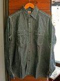 SUGARCANE JEAN CORD STRIPE L/S WORK SHIRT シュガーケーン ジーンコードストライプ長袖ワークシャツ SC25511 BLACK