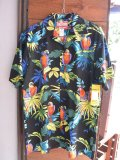 Made in USA Robert J. Clancey Aloha Shirts コットンアロハシャツ Max Payne– Black
