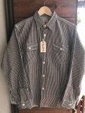 SUGARCANE HICKORY STRIPE WORK SHIRTシュガーケーン ヒッコリーストライプワークシャツ SC27853-119BLACK