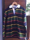 BARBARIAN ラガーシャツ NVY/GLD/BOT/RED