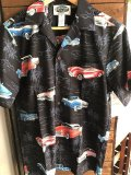 Made in USA Robert J. Clancey Aloha Shirts コットンアロハシャツ car BLACK
