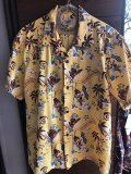 "SUN SURF by MASKED MARVEL COTTON SEERSUCKER OPEN SHIRT ""THE FRONTIER ISLAND"""