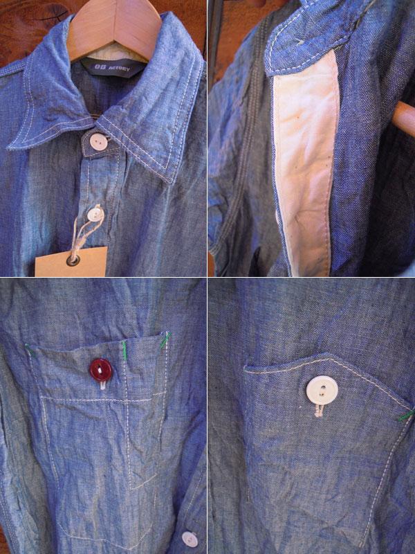 画像3: F.O.B FACTORY エフオービーファクトリーH/Sシャンブレーワークシャツ NAVY
