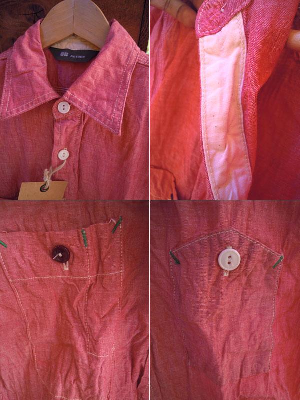 画像3: F.O.B FACTORY エフオービーファクトリーH/Sシャンブレーワークシャツ RED