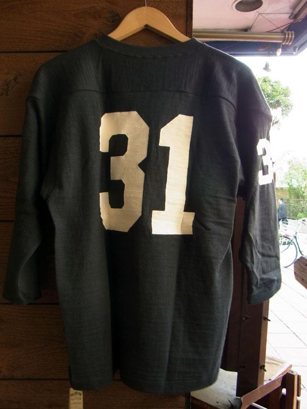 画像2: WAREHOUSE FOOTBALL TEE ウエアハウス 7分袖フットボールTシャツ ROOSEVELT BLACK