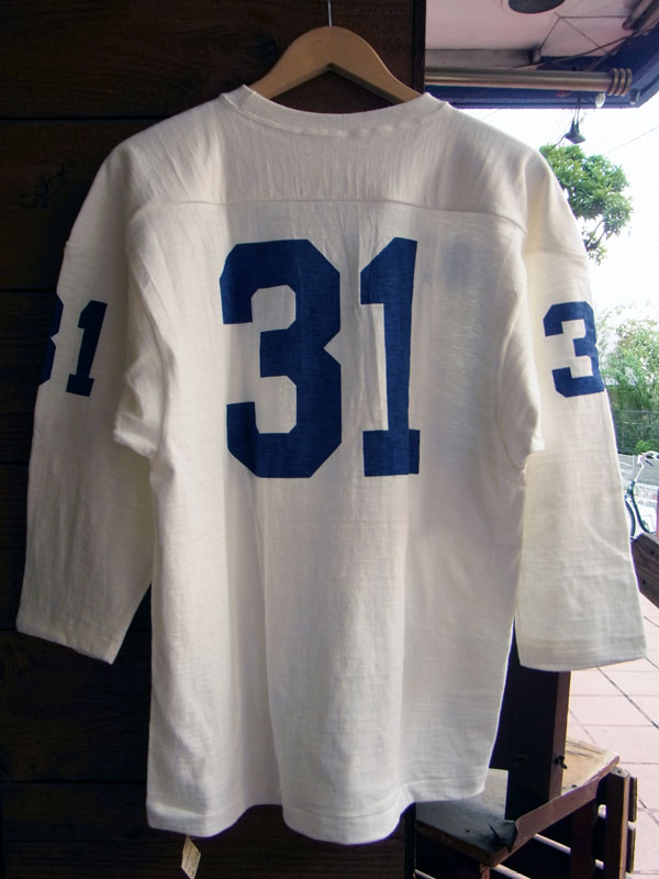 画像2: WAREHOUSE FOOTBALL TEE ウエアハウス 7分袖フットボールTシャツ ROOSEVELT WHITE
