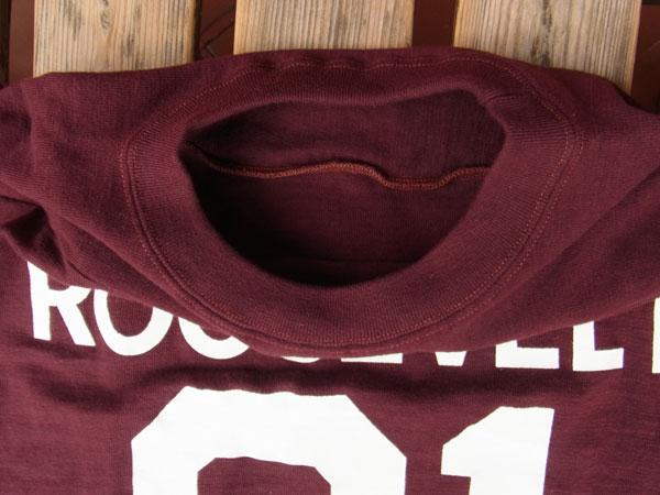 画像5: WAREHOUSE FOOTBALL TEE ウエアハウス 7分袖フットボールTシャツ ボルドー ROOSEVELT BOLDEAUX
