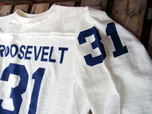 画像4: WAREHOUSE FOOTBALL TEE ウエアハウス 7分袖フットボールTシャツ ROOSEVELT WHITE