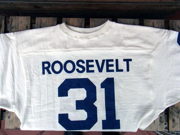 画像3: WAREHOUSE FOOTBALL TEE ウエアハウス 7分袖フットボールTシャツ ROOSEVELT WHITE