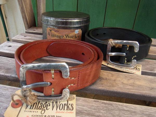 画像1: VINTAGE WORKS LEATHER BELT ビンテージワークス レザーベルト DH5536
