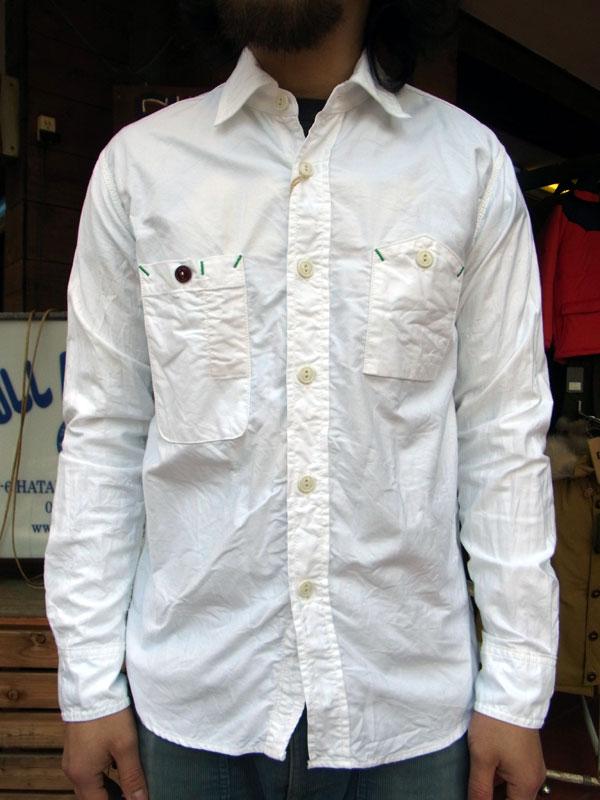 画像1: FOB FACTORY エフオービーファクトリー長袖オックスフォードシャツ WHITE