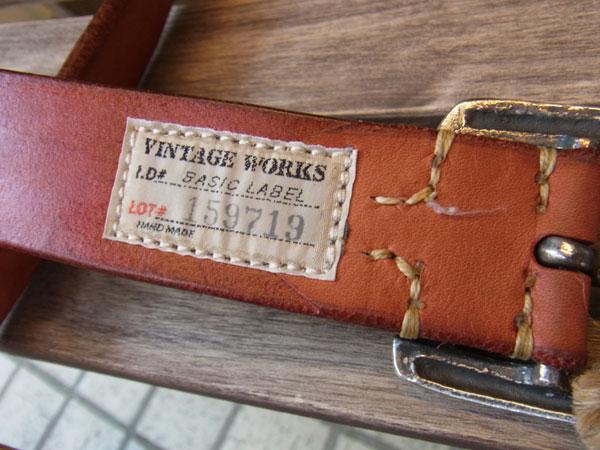 画像4: VINTAGE WORKS LEATHER BELT ビンテージワークス レザーベルト DH5536