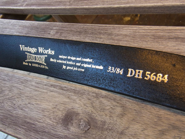 画像4: VINTAGE WORKS LEATHER BELT ビンテージワークス レザーベルト DH5684
