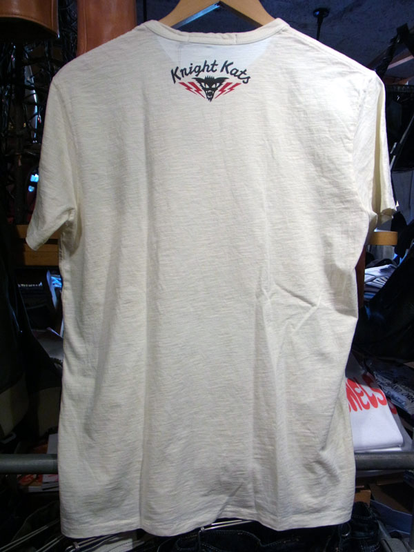 画像2: Johnson Motors'Inc KNIGHT KATS S/S tee ジョンソンモータース半袖Tシャツ DIRTY WHITE