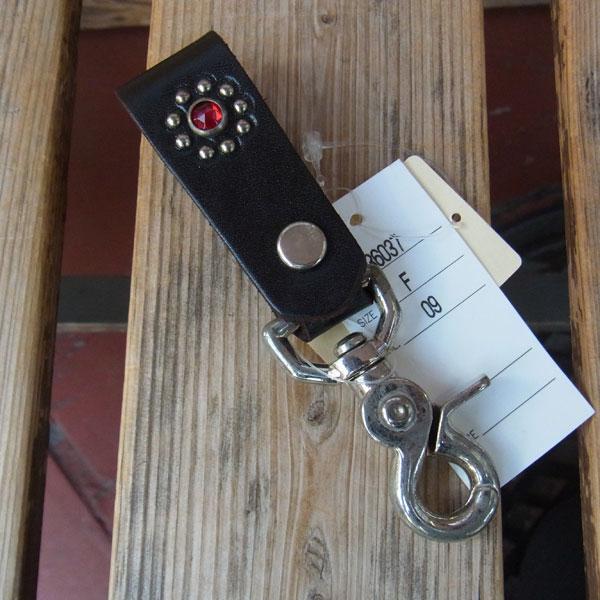 画像1: HTC FLOWER LEATHER  KEY HOLDER フラワーレザーキーホルダー