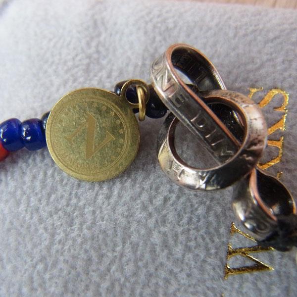 画像5: North Works Nickel 10¢Hook Beads Bracelet ノースワークスニッケル10セントフックビーズブレスレット