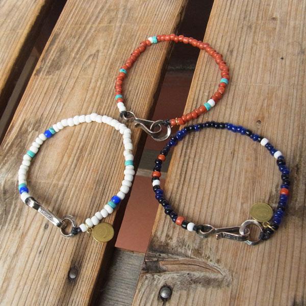 画像1: North Works Nickel 10¢Hook Beads Bracelet ノースワークスニッケル10セントフックビーズブレスレット