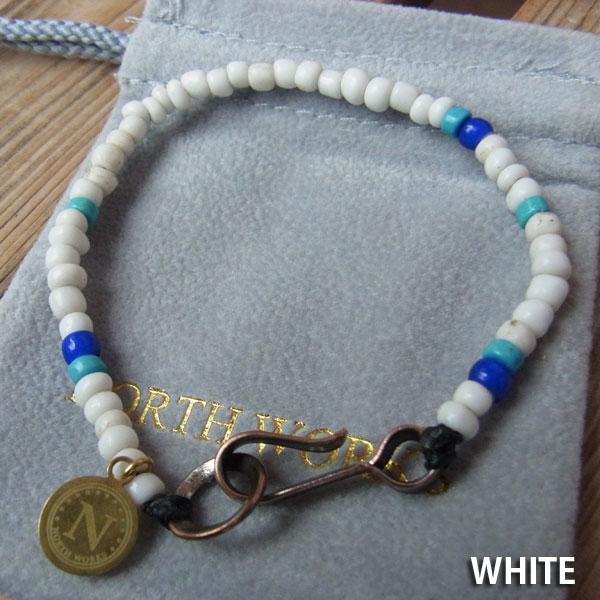 画像2: North Works Nickel 10¢Hook Beads Bracelet ノースワークスニッケル10セントフックビーズブレスレット