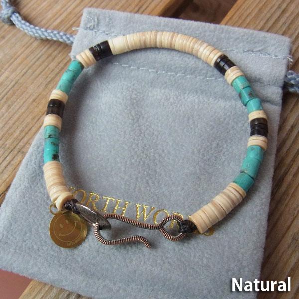 画像2: North Works Nickel 10¢ Hook Heishi Bracelet ノースワークスニッケル10セントフックヘイシブレスレット