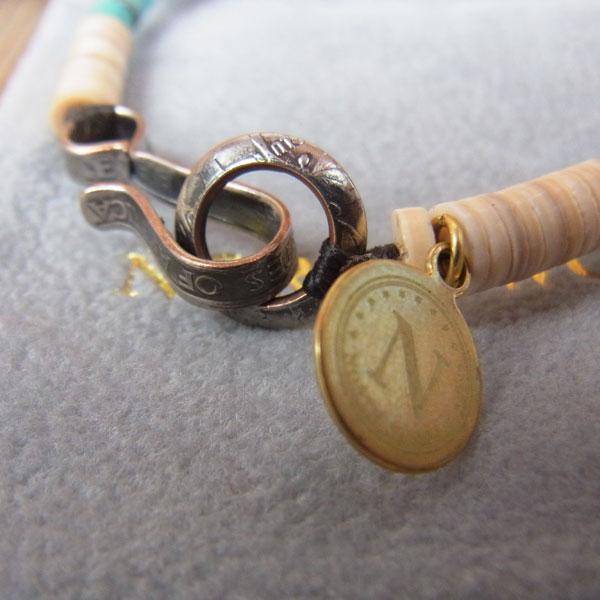 画像4: North Works Nickel 10¢ Hook Heishi Bracelet ノースワークスニッケル10セントフックヘイシブレスレット