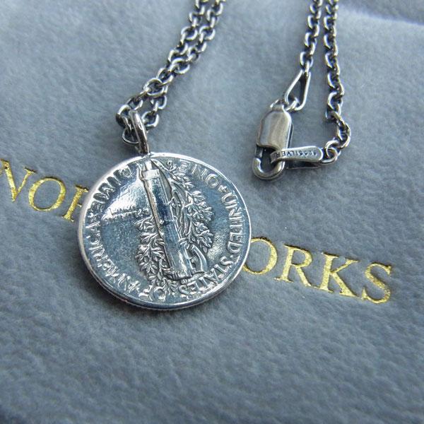 画像3: North Works 10¢Brace Point Pendant Star /50cm Chain ノースワークス10セントブラスポイントペンダントスター