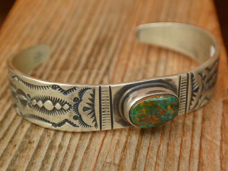 画像1: NABAHO INDIAN JUERY BANGLE ナバホ族 インディアンジュエリー ターコイズバングル