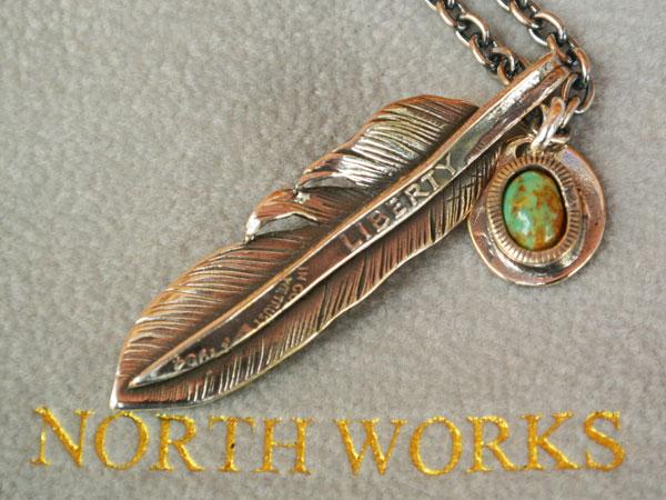 画像2: North Works  LIBERTY FEATHER PENDANT/50cm Chain ノースワークスリバティフェザーペンダント