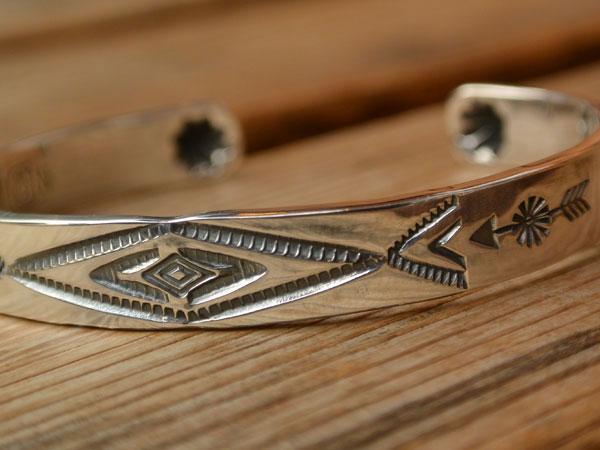 画像2: North Works Stamped 900Silver Cuff Bracelet ノースワークススタンプ900シルバーカフブレスレット