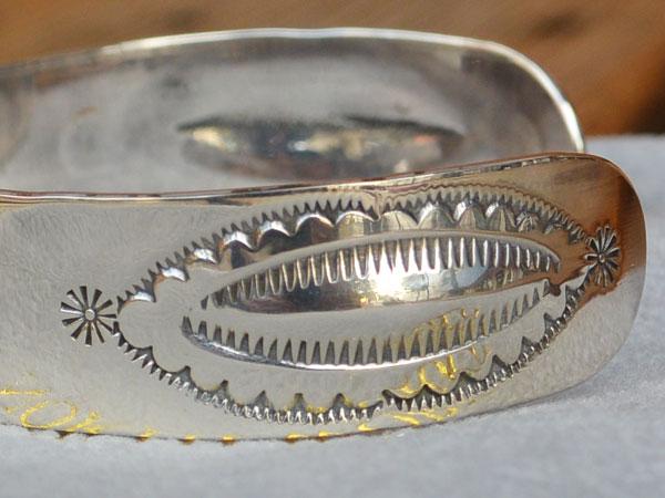 画像3: North Works Stamped 900Silver Cuff Bracelet ノースワークススタンプ900シルバーカフブレスレット