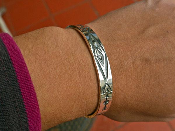 画像5: North Works Stamped 900Silver Cuff Bracelet ノースワークススタンプ900シルバーカフブレスレット