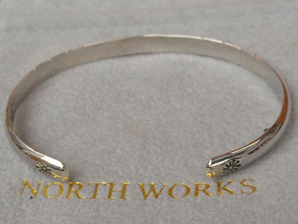 画像2: North Works Stamped 900Silver super narrow 2 Cuff Bracelet ノースワークススタンプ900シルバースーパーナロウ2カフブレスレット