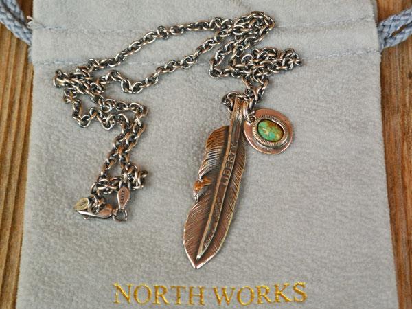 画像1: North Works  LIBERTY FEATHER PENDANT/50cm Chain ノースワークスリバティフェザーペンダント