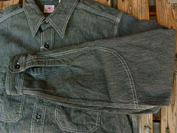 画像4: SUGARCANE JEAN CORD STRIPE L/S WORK SHIRT シュガーケーン ジーンコードストライプ長袖ワークシャツ SC25511 BLACK