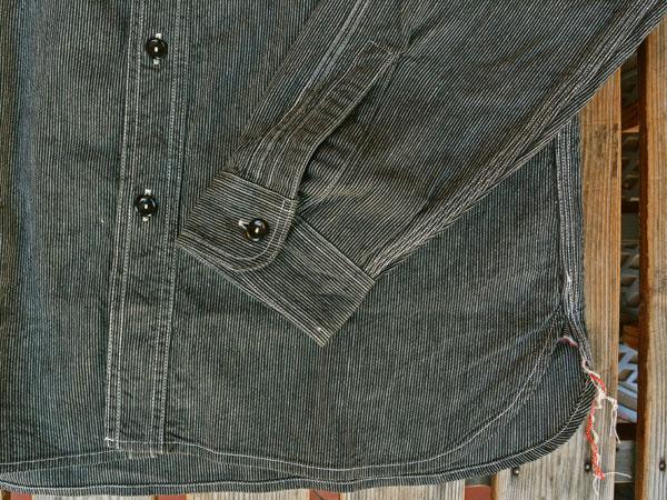 画像5: SUGARCANE JEAN CORD STRIPE L/S WORK SHIRT シュガーケーン ジーンコードストライプ長袖ワークシャツ SC25511 BLACK