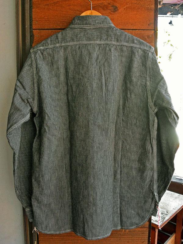 画像2: SUGARCANE JEAN CORD STRIPE L/S WORK SHIRT シュガーケーン ジーンコードストライプ長袖ワークシャツ SC25511 BLACK