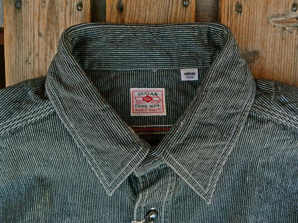 画像3: SUGARCANE JEAN CORD STRIPE L/S WORK SHIRT シュガーケーン ジーンコードストライプ長袖ワークシャツ SC25511 BLACK