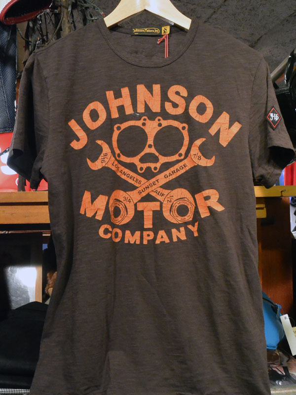 画像1: Johnson Motors'Inc GASKET COMPANY S/S tee  ジョンソンモータース 半袖Tシャツ BLACK TAR
