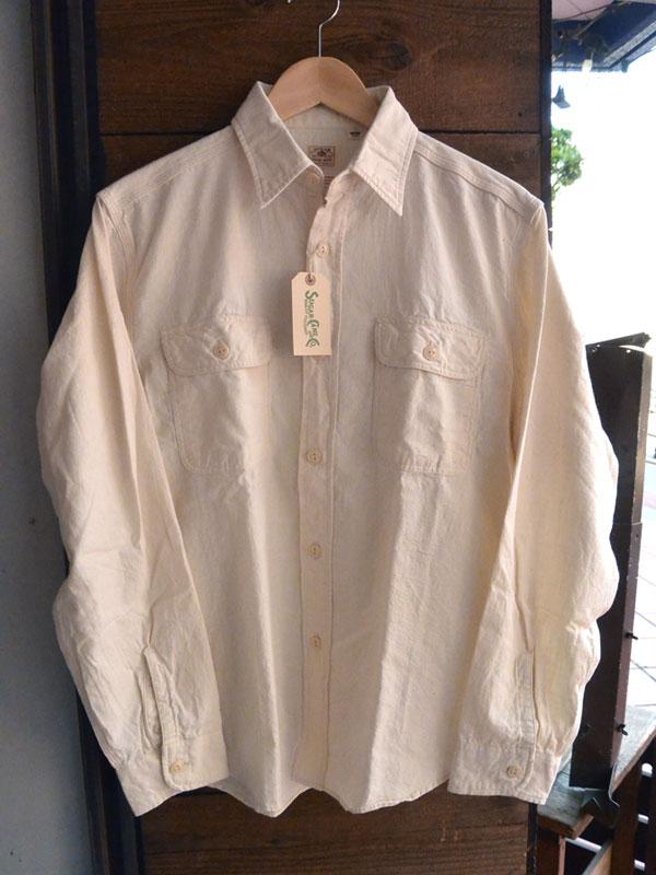 画像1: シュガーケーン シャンブレー長袖ワークシャツSUGARCANE WHITE CHAMBRAY L/S WORK SHIRT SC25678 WHITE