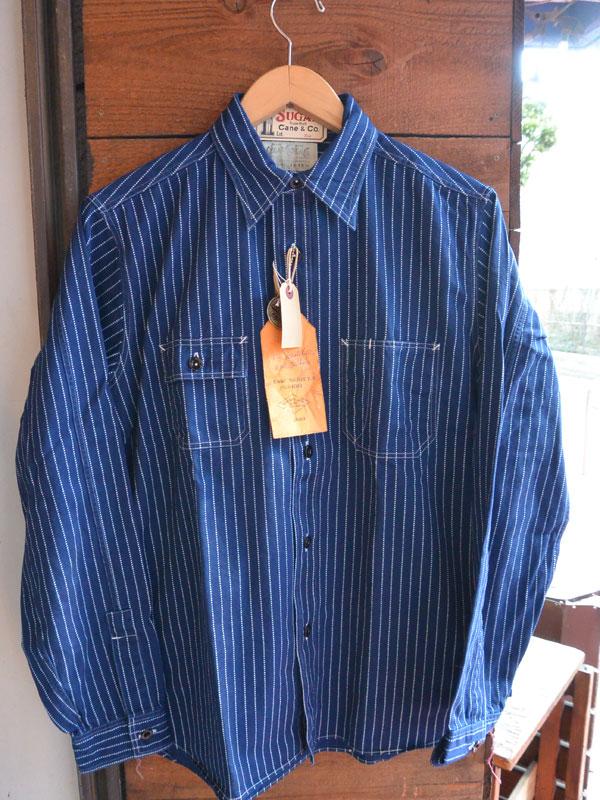 画像1: シュガーケーン フィクションロマンス 8.5oz ウォバッシュストライプ ワークシャツ SUGAR CANE FICTION ROMANCE WABASH STRIPE WORK SHIRTS