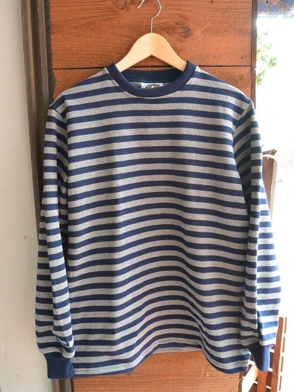 画像1: バーバリアン 12オンス ヘビーウェイト長袖Tシャツ BARBARIAN ネイビー/オックスフォード
