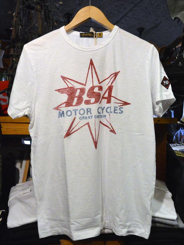 画像1:  Johnson Motors'Inc BSA STAR S/S tee ジョンソンモータース半袖Tシャツ OPTIC WHITE